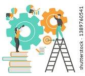 creative idea and teamwork... | Shutterstock .eps vector #1389760541
