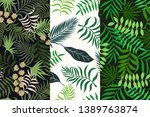 set of three tropical... | Shutterstock .eps vector #1389763874