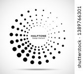halftone circle dotted frame... | Shutterstock .eps vector #1389766301
