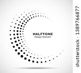 halftone circle dotted frame... | Shutterstock .eps vector #1389766877
