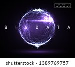 big data. abstract vector... | Shutterstock .eps vector #1389769757