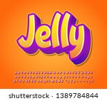 jelly sticker font effect ... | Shutterstock .eps vector #1389784844