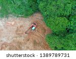 deforestation. logging and... | Shutterstock . vector #1389789731