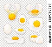 Eggs On Transparent. Fried Egg...
