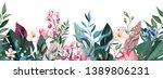 botanic seamless border  rim... | Shutterstock .eps vector #1389806231