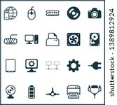 hardware icons set with webcam  ... | Shutterstock .eps vector #1389812924