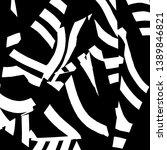 brush grunge pattern. white and ... | Shutterstock .eps vector #1389846821