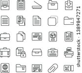 thin line vector icon set  ... | Shutterstock .eps vector #1389847271
