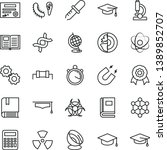 thin line vector icon set  ... | Shutterstock .eps vector #1389852707