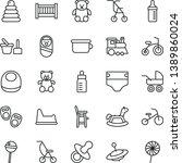 thin line vector icon set  ...   Shutterstock .eps vector #1389860024