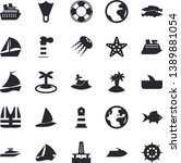 solid vector icon set   fish...