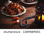 the muslim feast of the holy... | Shutterstock . vector #1389889001