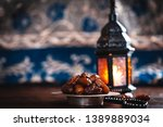 the muslim feast of the holy... | Shutterstock . vector #1389889034