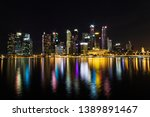 singapore skyline cityscape and ... | Shutterstock . vector #1389891467