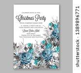 christmas party invitation... | Shutterstock .eps vector #1389896771