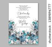 christmas party invitation... | Shutterstock .eps vector #1389896777