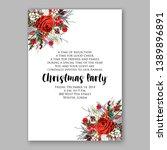 christmas party invitation... | Shutterstock .eps vector #1389896891