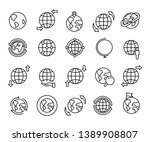 planet earth globe with...   Shutterstock .eps vector #1389908807
