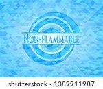non flammable sky blue emblem... | Shutterstock .eps vector #1389911987