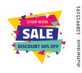 sale banner. discount up to 50  ... | Shutterstock .eps vector #1389915191