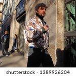 milano  italy  12 january 2019  ... | Shutterstock . vector #1389926204
