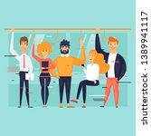 public transport  people ride... | Shutterstock .eps vector #1389941117