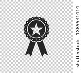 award medal with star and... | Shutterstock . vector #1389941414