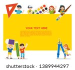 back to school. happy school... | Shutterstock .eps vector #1389944297