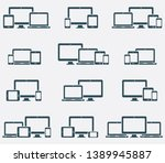 responsive digital devices... | Shutterstock .eps vector #1389945887