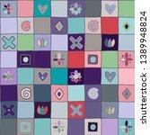 seamless vector pattern  cute... | Shutterstock .eps vector #1389948824