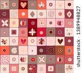 seamless vector pattern  cute... | Shutterstock .eps vector #1389948827