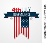 stylish american independence... | Shutterstock .eps vector #138995135