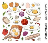 set of different food for... | Shutterstock .eps vector #1389961991