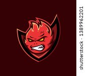 esport logo template  red devil | Shutterstock .eps vector #1389962201