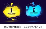 black keyhole icon isolated.... | Shutterstock .eps vector #1389976424