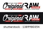 set raw denim  design vector...   Shutterstock .eps vector #1389980354