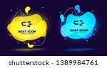 black magnet with money icon... | Shutterstock .eps vector #1389984761