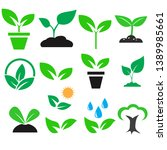 green plant and leave color... | Shutterstock .eps vector #1389985661