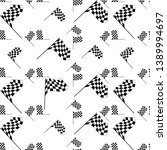 race flag seamless pattern ... | Shutterstock .eps vector #1389994697