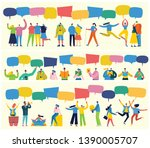 vector banner with the group of ... | Shutterstock .eps vector #1390005707