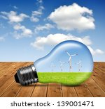 wind turbines in bulb | Shutterstock . vector #139001471