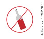 attention forbidden alcohol... | Shutterstock .eps vector #1390016051