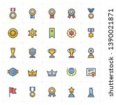 icon set   awards and trophy... | Shutterstock .eps vector #1390021871