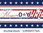 happy memorial day background... | Shutterstock .eps vector #1390047764