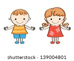the child of a smiling face | Shutterstock . vector #139004801