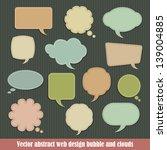 vector abstract web design... | Shutterstock .eps vector #139004885