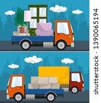 set of transportation services...   Shutterstock .eps vector #1390065194