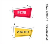abstract big sale and special... | Shutterstock .eps vector #1390067981