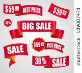 sale tags set | Shutterstock .eps vector #139007471
