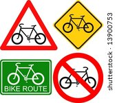 Vector. Bicycle Signs